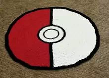 *Pokemon Ball Rug Bedroom Decoration Blanket Handmade Crochet Collectable