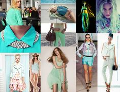 the cult of style: MINTY FRESH: COLOR OF THE MOMENT