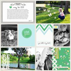 Digital Project Life page created by Teresa Victor featuring Down the Lane by Sahlin Studio