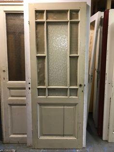 nr. 2223 antieke glasdeur met bijzondere verdeling
