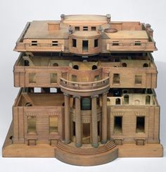 Model of Tyringham Hall, © Sir John Soane's Museum. One of the most interesting and visually beautiful architectural models in Sir John Soane's Museum is for Tyringham Hall, Buckinghamshire. Made by Joseph Parkins, c. 1793-94, the highly detailed model was commissioned by Soane to present to his client William Praed, a Fleet Street banker.