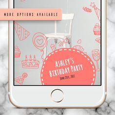 Snapchat Geofilter Birthday, Custom Snapchat Filter, Snapchat Filter Birthday, Kids Birthday Geofilter,  Birthday Snapchat Filter