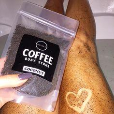 Scrub + tub = love!   www.Janessence.com   #bath #coffee #coffeescrub #body #scrub #bodyscrub #skincare #love #heart #spa #organic #allnatural #natural #fresh #relax #wellness #coffeebreak #bathtime #mtl #montreal