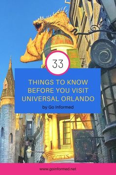 Start planning your   Universal Orlando vacation today! Find out what you need to know to   decide where to stay, how long to visit, and what to do when you get   there. Tips for making the most of your visit, including lots of info   about the Wizarding World of Harry Potter.