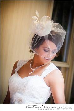 Wedding by TimeSmart Images, bride pose, birdcage vail, Pittsburgh Wedding, Bridal Portrait