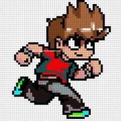 Scott Pilgrim VS The World perler pattern - Minecraft Pixel Art Templates