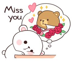 Bear Couple : Milk & Mocha by Shortie sticker Cute Cartoon Images, Cute Couple Cartoon, Cute Cartoon Wallpapers, Cute Love Gif, Cute Love Pictures, Calin Gif, Gif Mignon, Gif Lindos, Image Couple