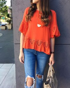 """""""I've been loving a boho pop recently.""""—@girlmeetsgold. We're loving that pop of boho on you, too! #YouStyled"""