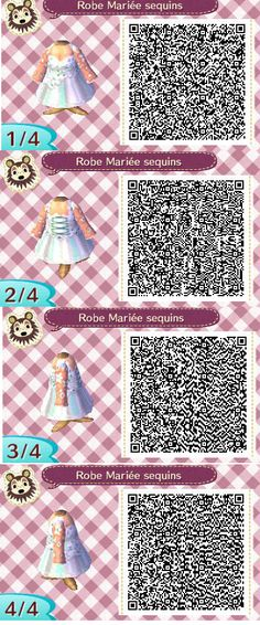 ACNL QR CODE-White Sequin Dress