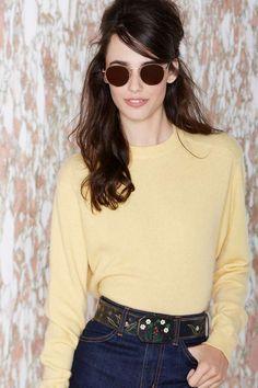 Vintage Dawn Cashmere Crop Sweater