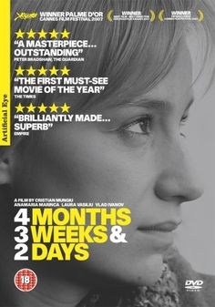 """4 Months, 3 Weeks and 2 Days luni, 3 saptamâni si 2 zile"""" A woman assists her friend in arranging an illegal abortion in Romania. Movie To Watch List, Good Movies To Watch, See Movie, Movie Tv, The Best Films, Great Films, Alfred Hitchcock, Master P, 4 Months"""