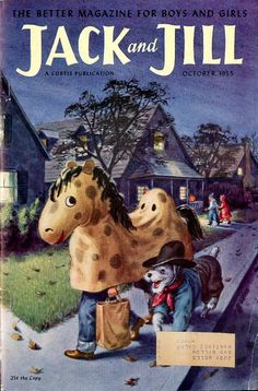 """JACK and JILL"",cover, October 1955"