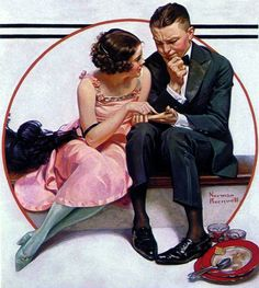 Fortune Teller by Norman Rockwell