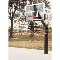Bison Ultimate Outdoor Glass Basketball System. Make the outdoors look like the indoors with this glass hoop.