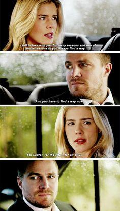 #Arrow - Oliver & Felicity #Olicity #4x19