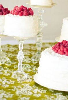 cake stand from dollar store glass candlesticks and plates