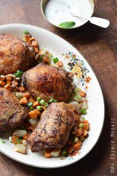 jerk-roasted-chicken-thighs-and-sweet-potato-dinner-with-creamy-honey-jalapeno-sauce-paleo-1