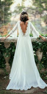 11 Simple Beautiful Low Back Wedding Dress