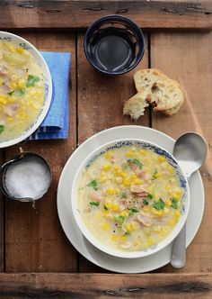 Fall Recipes - sweet corn and bacon soup Corn Recipes, Fall Recipes, Great Recipes, Favorite Recipes, Summer Recipes, Meat Salad, Soup And Salad, Wow Recipe, Bacon Soup