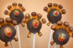 Turkey Cake Pops by Bakerella, via Flickr