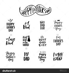 Vector typography design. Unique handdrawn emblem for father's day - can be used on clothing, postcard, poster. Happy father's day design.