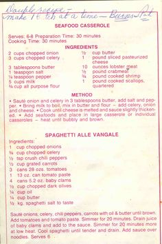 Cy's Seafood Restaurant Old Favorite Recipes - Seafood Casserole
