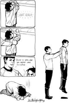 Spock & McCoy Hehe I could see that happening