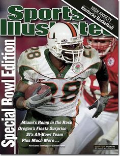 Miami Hurricanes 2001 National Champions - Sports Illustrated 2002 cover 42a4e5aeb