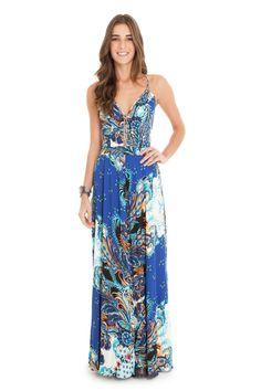 Vestido longo estampa lana | Dress to