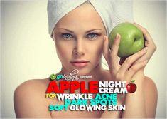gspot: Homemade Apple Night Cream for Wrinkles, Dark spots, Acne, Soft Glowing skin Cream For Dark Spots, Dark Spots On Face, Eye Cream For Dark Circles, Acne Cream, Skin Cream, Homemade Eye Cream, Firming Eye Cream, Dry Skin On Face, Organic Skin Care