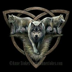 New wolf design from Anne Stokes featuring a triquetra symbol Anne Stokes, Gothic Fantasy Art, Fantasy Wolf, Anime Wolf, Wolf Spirit, My Spirit Animal, Wolf Tattoos, Wolf Hybrid, Wolf Painting
