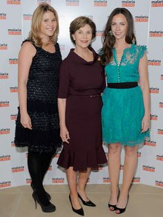 Jenna and Barbara Pierce Bush 43rd #President of the United States 50th #FirstLady Laura