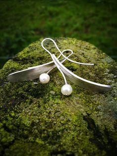 Silver Earrings, Pearl Earrings, Silver Pearls, Calming, Spirit, Jewellery, Pearl Studs, Jewelery, Jewelry Shop