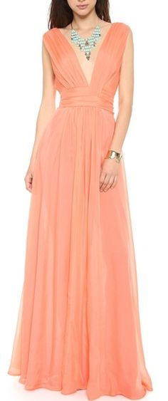 gorgeous #coral chiffon gown http://rstyle.me/n/haqtzr9te