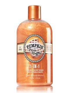 Bath & Body Works #Pumpkin Pecan Waffles 2-in-1 Creamy Body Wash & Bubble Bath Available Now
