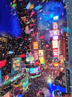 2013 at New York Marriott Marquis ~ New Years Times Square celebration!! Awesome pic!