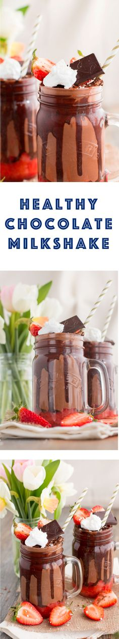 A delicious and luxurious healthy chocolate milkshake recipe, incredibly tasty yet so healthy! Dairy free and delicious, the perfect pick-me-up!