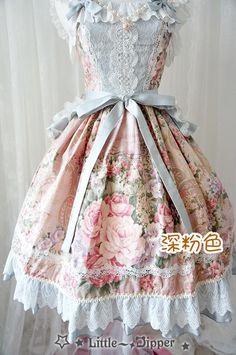 Rose Lake Flower Wall Lolita Dress