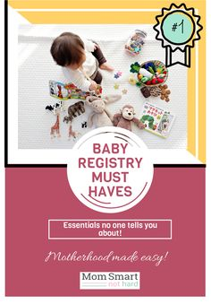 Baby Registry Must Haves No One Tells You about - Mom Smart Not Hard Baby Registry Checklist, Baby Registry Must Haves, Baby Registry Items, Baby Nursery Rugs, Nursery Toys, Hospital Bag Essentials, Hospital Bag Checklist, Toddler Toys, Baby Toys
