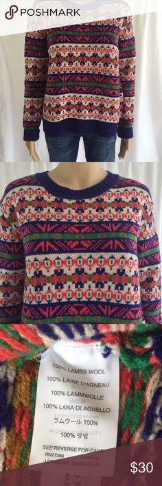 "J Crew Pink Wool Crewneck Sweater XS Nordic Oversi J Crew Pink Wool Pullover Knit Sweater XS Nordic Fair Isle Crewneck Oversized EUC  24"" Pit to pit 23"" Length Oversized EUC J. Crew Sweaters Crew & Scoop Necks"