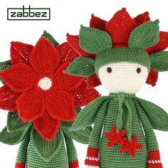 Patrón de crochet de la Estrella de Navidad Kris PDF por Zabbez