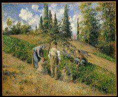 The Harvest, Pontoise (La Récolte, Pontoise) Camille Pissarro 1881