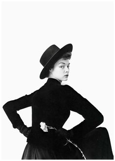 Jean Patchett photographed by Irving Penn, ca. 1950.