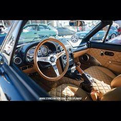 Mazda Miata custom interior.