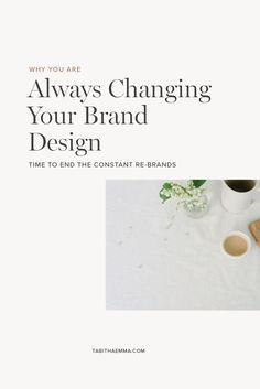 It is easy to get stuck constantly changing your brand identity design and visuals. Here is what could be going wrong so you can finally find a brand style you will stick with. #visualbranding