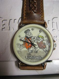 Vintage Fossil Flintstones Fred & Barney Limited Edition Quartz Watch on Etsy, $107.19 CAD