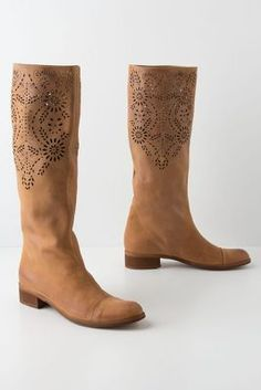 anthro boots for under $100. Openwork Laurel Boots
