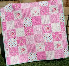 This listing is for a wholecloth Quilt Kit featuring Lecien Flower and Sugar. You can choose the size baby or toddler Baby Girl Bedding, Baby Girl Quilts, Girls Quilts, Baby Girl Blankets, Quilt Baby, Chic Bedding, Shabby Chic Quilts, Pink Crib, Pink Quilts