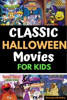 Halloween movies for kids don't need to be scary. Here are the best non-spooky Halloween for kids. Plan a fun Halloween movie night with these great choices for kids! Family Friendly Halloween Movies, Classic Halloween Movies, Halloween Movie Night, Halloween Stories, Halloween Traditions, Halloween This Year, Halloween Books, First Halloween, Halloween Activities