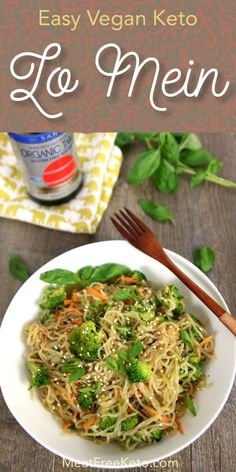 Vegan Keto Lo Mein is part of Vegan Keto Lo Mein Meat Free Keto Vegan Keto Recipes - This gluten free, vegan lowcarb lo mein is a great substitute for a takeout classic It's easy to make, delicious and keto friendly! Vegan Keto Diet, Vegan Keto Recipes, Paleo, Vegetarian Keto, Low Carb Diet, Ketogenic Recipes, Diet Recipes, Healthy Recipes, Vegetarian Lifestyle
